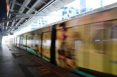 BTS或Skytrain在曼谷泰国 库存图片