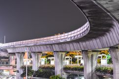BTS火车轨道在曼谷 库存照片