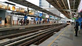 BTS Ari y x28; Estaciones de Skytrain en el bangkok& x29; Foto de archivo libre de regalías