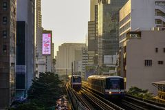 Bts-drev på railtracken royaltyfri fotografi