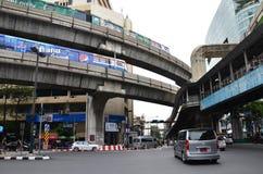 BTS nieba pociąg w Bangkok Zdjęcia Stock