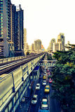 BTS Railway, Bangkok royalty free stock photo