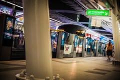 BTS sky train. In Bangkok,Thailand Royalty Free Stock Photo