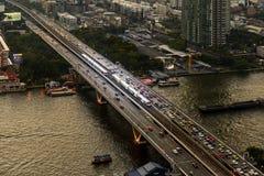 BTS sky train in Bangkok Royalty Free Stock Image