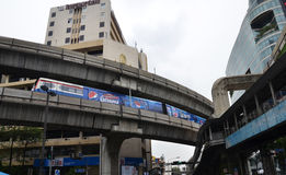 BTS sky train in Bangkok Stock Photography