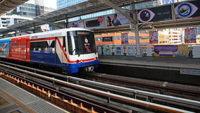 BTS Sky train at Phloen Chit station Royalty Free Stock Image