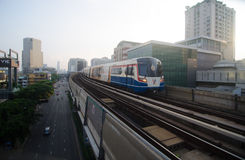 BTS sky train in Thailand Royalty Free Stock Photo