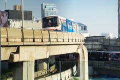 BTS Skytrain Fotografering för Bildbyråer