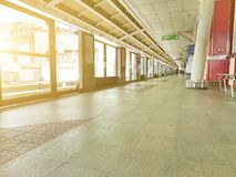 Platform and barrier. royalty free stock photos