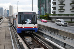BTS Skytrain in Bangkok Royalty Free Stock Photo