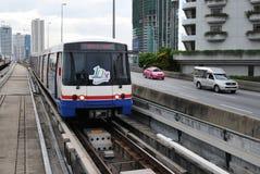 BTS Skytrain in Bangkok Royalty-vrije Stock Foto