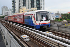 BTS Skytrain in Bangkok Royalty-vrije Stock Afbeeldingen