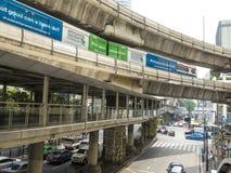 BTS skytrain, Bangkok. The fast BTS skytrain in Bangkok, Thailand Royalty Free Stock Photos