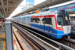 BTS Skytrain in Bangkok Stock Photo