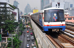 BTS Skytrain in Bangkok Celebrates Thirteen Years Stock Photography