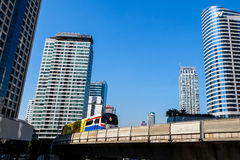BTS Skytrain in Bangkok Royalty Free Stock Photography