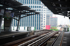 BTS or Skytrain in Bangkok Thailand. Royalty Free Stock Images