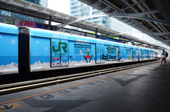 BTS or Skytrain in Bangkok Thailand. Royalty Free Stock Image