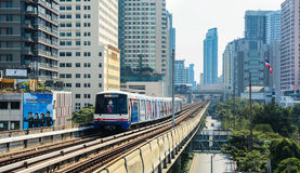 BTS Skytrain on elevated rails Stock Images