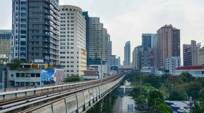 BTS Skytrain on elevated rails Stock Photos