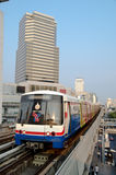 BTS Skytrain on Elevated Rails in Central Bangkok Royalty Free Stock Photos