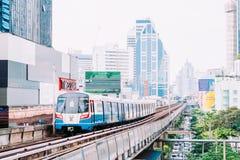 BTS Skytrain em Banguecoque Fotografia de Stock Royalty Free