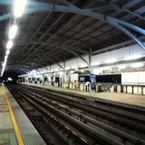 BTS skytrain station. royalty free stock photo