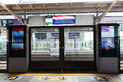 BTS station in Bangkok. Royalty Free Stock Images