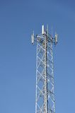 Bts tower. Against blue sky Stock Image