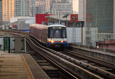 BTS train arriving at station Stock Photo