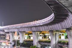 BTS-treinsporen in Bangkok stock foto's