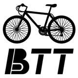 BTT card. Creative design of BTT card Royalty Free Stock Photo