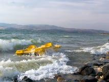Storm på havet av ââGalileen. Israel. Royaltyfri Bild