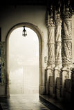 Buçaco Columns. Columns of the Palace of Bussaco, in Portugal Royalty Free Stock Image