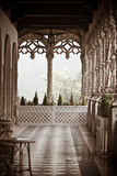 Buçaco Palace. Columns of the Palace of Bussaco, in Portugal Stock Image