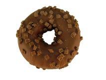 Buñuelo del anillo del chocolate Foto de archivo libre de regalías