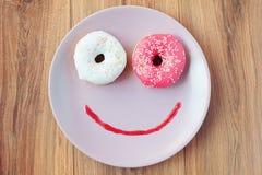 Buñuelo dulce para un desayuno de la mañana Foto de archivo libre de regalías