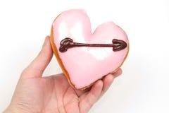 Buñuelo en forma de corazón Foto de archivo libre de regalías