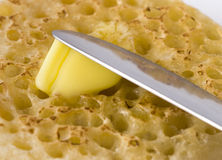 Buñuelo untado con mantequilla Fotografía de archivo
