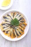 Buñuelos de la anchoa, cocina de Odessa Imágenes de archivo libres de regalías