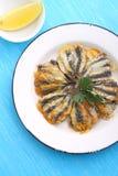 Buñuelos de la anchoa, cocina de Odessa Imagen de archivo libre de regalías