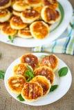 buñuelos de los pasteles de queso Fotos de archivo