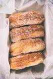 Buñuelos del azúcar Imagenes de archivo