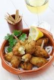 Buñuelos del bacalao de sal, croquetas Foto de archivo libre de regalías
