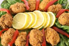 Buñuelos fritos del cangrejo Fotografía de archivo