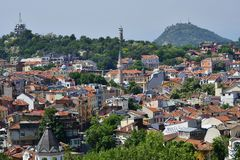 Bułgaria, Plovdiv, pejzaż miejski zdjęcia stock