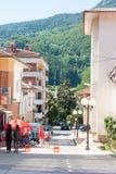 Bułgaria Smolyan: dom i góry Obraz Royalty Free