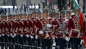 Bułgaria Sofia strażnicy honor Obrazy Royalty Free