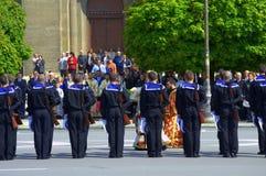 Bułgarska wojsko dnia ceremonia, Varna Bułgaria Zdjęcie Stock