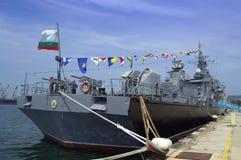 Bułgarski okręt wojenny Obrazy Royalty Free